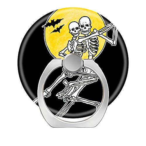 Handy Ring Halter Handy Finger Ständer 360Grad drehbar Arbeit für iPhone X 678Plus S8S9Smartphone iPad, Dancing Skeletons Skull (Männer Skeleton Ringe)