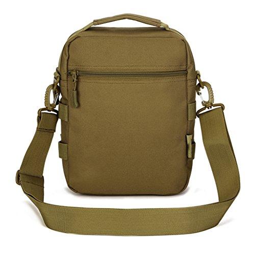 cinmaul Military Tactical MOLLE Tasche Schulter Nachricht Tasche Pack Gear Messenger Schulter Satteltasche Braun - Coyote Brown