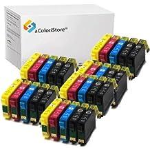 Kit de cartuchos compatibles con Epson series T1631 T1632 T1633 T1634 30 unidades WorkFoce WF2010W, WF2510WF, WF2520NF, WF2530WF, WF2540WF, WF2630WF, WF2650DWF, WF2660DWF