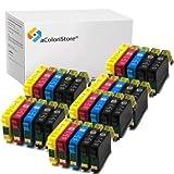 Lot de 30 cartouches compatibles pour imprimantes Epson T1631, T1632, T1633, T1634, Workforce WF2010W, WF2510WF WF2520NF WF2530WF, WF2540WF, wf2630wf, WF2650DWF, WF2660DWF