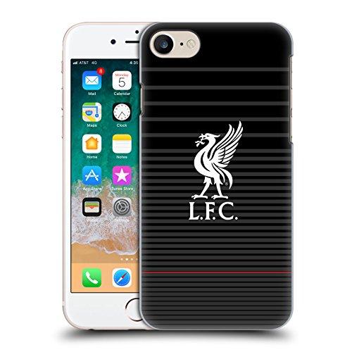 Head Case Designs Offizielle Liverpool Football Club Kit Weiss Und Schwarz Liver Bird Harte Rueckseiten Huelle kompatibel mit iPhone 7 / iPhone 8