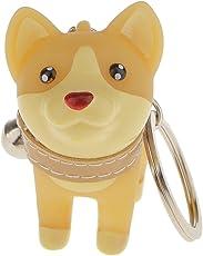 Generic Charm Key Ring Key Chain Cute Dog Pendant Gift-Yellow