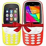 I KALL K3310 (Yellow) And K35(Red) Combo Of Dual Sim Mobile With 101 Days Replacement Warranty With 1 Year Manufacturer Warranty