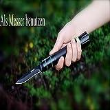 Taktische Taschenlampe Messer – JULI Multifunktionale Selbstverteidigung Überlebens -Messer mit Wiederaufladbare Einstellbare Cree LED Taschenlampe für Fahrzeug Jagd Camping Outdoor (+ Akku + Ladegerät) - 5