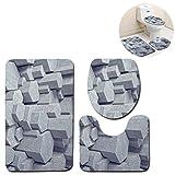 Missrui u-Shaped Badezimmer-Matten, Teppich, Bad-Teppich, Rutschfest, extra weich mit Doormats, Wanne, Dusche Six