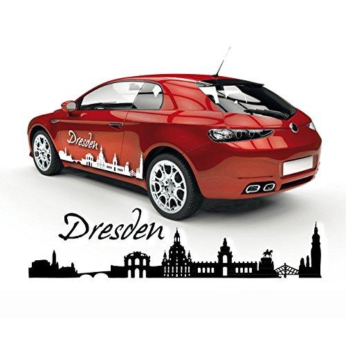 Goldener Reiter Silhouette Dresden Hauptstadt Sachsen Auto Aufkleber Sticker Cardesign Skyline |SKD014 (Reiter-silhouette)