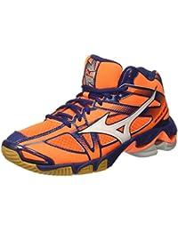 Mizuno - Zapatillas de Voleibol de Material Sintético para Hombre Naranja Arancione