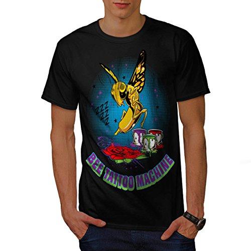 abeille-tatouage-machine-guepe-homme-nouveau-noir-l-t-shirt-wellcoda