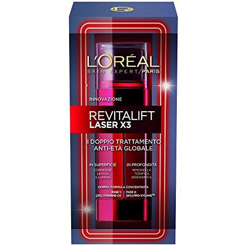 L'Oréal Paris Revitalift Laser X3 - Crema Viso Anti-Età, Doppio