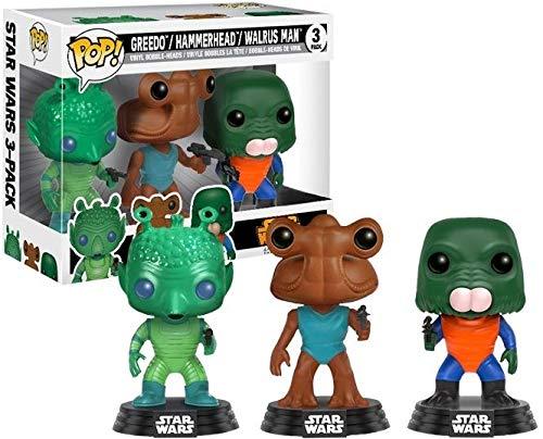 Funko Pop Star Wars: Greedo Walrus Man Cantina Exclusive 3-Pack HAMMERHEAD