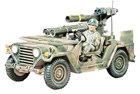 Military Miniatures M151A2 Tow Missile Launcher - 1:35 Scale Military - Tamiya