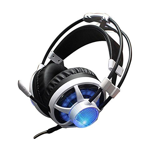 QINQIN Light vibrations games headphones Internet cyber caf¨¦ sport-specific headset , white by QIN