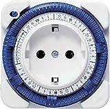 Theben 0270930 - Enchufe con temporizador (semanal), color blanco