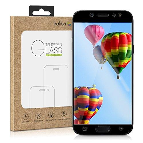 kalibri-Echtglas-Displayschutz-fr-Samsung-Galaxy-J5-2017-3D-Schutzglas-Full-Cover-Screen-Protector-mit-Rahmen-in-Schwarz