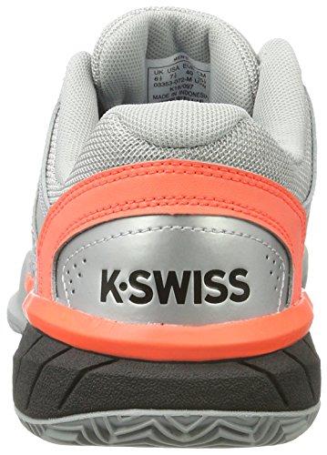K-Swiss Performance Express Ltr, Scarpe da Tennis Uomo Grigio (Highrise/black/neon Blaze)