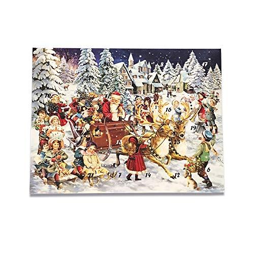 Esther Confiserie - Adventskalender mit 24 Trüffel und Pralinen gefüllt ohne Alkohol - Weihnachtsgeschenk Inhalt 335g