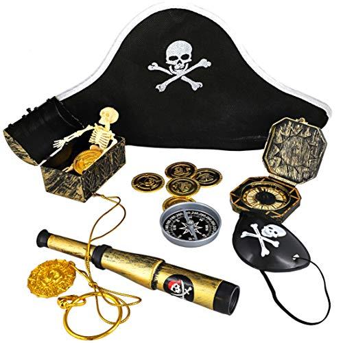 Juvale Piraten-Party-Gastgeschenke – Piraten-Motto Geburtstag Party Supplies, Gastgeschenktüte, Piratendekoration, Kunststoff Fake Münzen, Pirat ()
