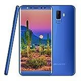 """telephone portable debloqué,smartphone pas cher 3g,leagoo m9 5.5 """"écran Quad Core 1.3GHz 8MP quad caméras 2 Go RAM + 16 Go ROM Extension de 32 Go Android 7.0 langue multinationale FOTA améliorer de Leagoo Direct,Bleu"""