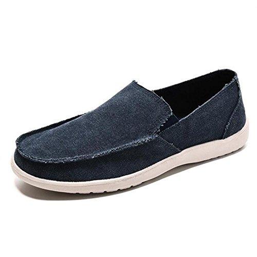 Mr. LQ - Beiläufige Segeltuch-Schuhe der Männer Blue
