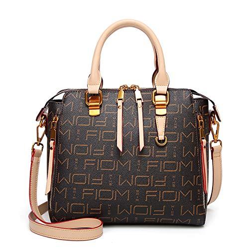 Fyyzg einzelne Schulter Messenger Bag Neue alte Blume Platin Tasche personalisierte Druck weibliche Handtasche Mode eine Schulter - Khaki