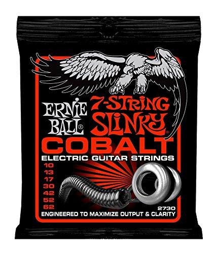 Ernie Ball dünne obere schwere Slinky Kobalt 7-String E-Gitarre Saiten - 10-62 Gauge