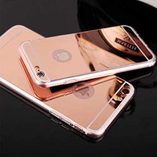 KPH Luxury Mirror Effect Acrylic back + Metal Bumper Case Cover for iPhone 5 / 5s - (ROSE GOLD)  available at amazon for Rs.250
