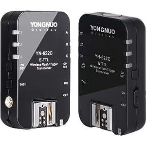 YONGNUO TTL sans fil Déclencheur Flash YN-622C YN622 C avec HSS pour Canon+WINGONEER diffuseur