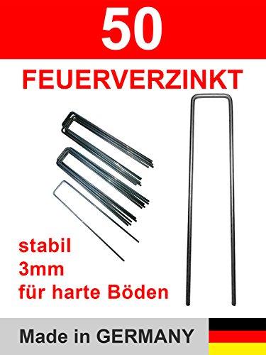 50 Erdanker Stahl verzinkt feuerverzinkt zur Unkrautvlies Befestigung 150x30 Stärke 3 mm -
