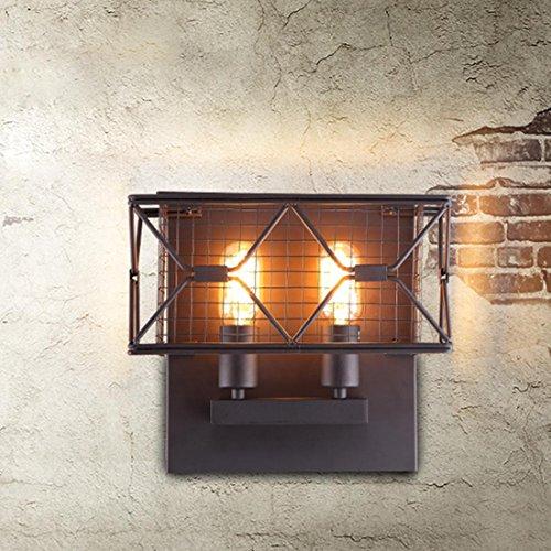 Industrie Vintage Métal Lumière de Mur Miroir Lampe Rétro Lampe Murale Nuit Lampe E27 Veilleuse Intérieur Décoration Éclairage Luminaire Applique Murale pour Chambre D'enfant Hallway Escalier Couloir