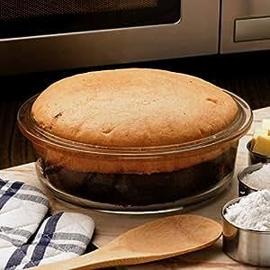 Borosil Easy Grip Round Cake Dish, 1.4 Litres