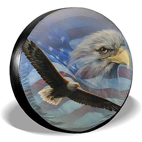 Hiram Cotton Spare Tire Cover American Flag Eagle Ruota di Scorta Copertura Pneumatici Fuoristrada velocità Estrema Overdrive Univers
