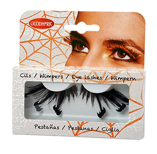 Pestañas postizas murciélagos Halloween - Única