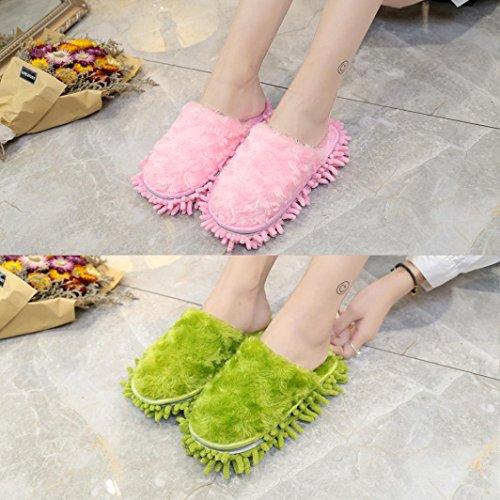 Pantoufle Femme Chaussures Rawdah Mules Duveteux Flip Flop Sandal Shoes Faux Fourrure Claquette Vert