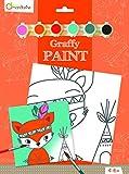 Avenue Mandarine - PP014O - Set Graffy Paint - Thème Renard Indien, 20 x 20