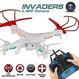 LiDi RC 2.4GHz 6-Axis Gyro 360 ° flip modalità senza testa RC Quadcopter con 0.3MP videocamera HD per i principianti, bambini RC Aeromobili (bianco)
