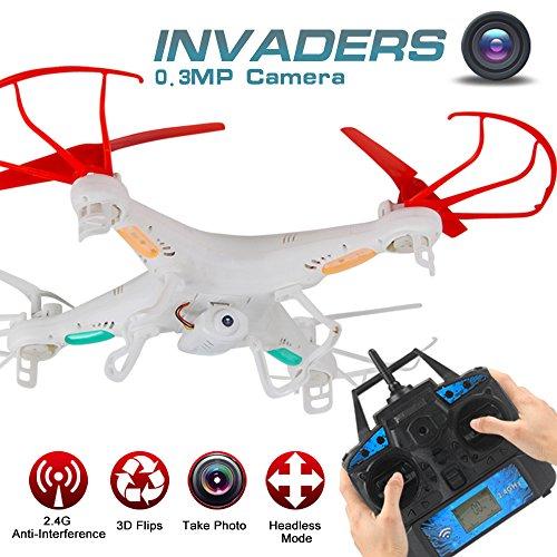 LiDi RC Explorers 2 2,4 GHz 4-Kanal 6-Achsen-Gyro RC Headless Quadcopter Drone UFO mit 0.3MP HD Kamera