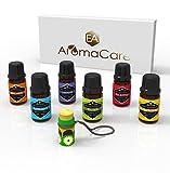 EA AromaCare - Coffret-cadeau d'Huiles Essentielles d'Aromathérapie, qualité thérapeutique, 100% pures, (Lavande, Menthe Poivrée, Citronnelle, Arbre à thé, Eucalyptus, Orange)...