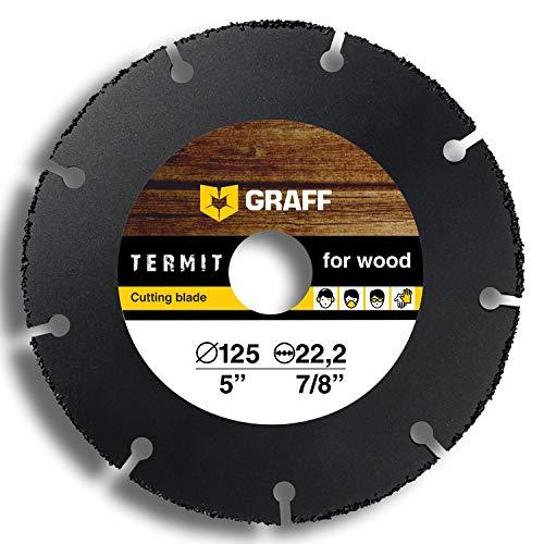Trennscheibe GRAFF Termit 125mm / 115mm für Winkelschleifer (Flex), dünne Schnitt von Holz, Laminate, Kunststoff (125 mm)