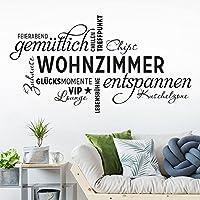 Entzuckend KLEBEHELD® Wandtattoo Wohnzimmer Wortwolke | VIP Lounge, Zuhause,  Kuschelzone, Sprüche,