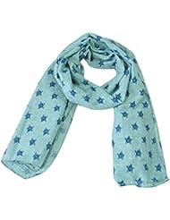 Hosaire Bebé Pañuelos de Cuello del Lino del bebé Unisex de la Bufanda para Niños Niñas Pequeño Patrón de Estrellas 140 * 40cm (Azul)