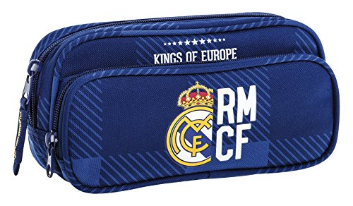 Real Madrid- Estuche portatodo con Bolsillo (SAFTA 811724602), Color Azul (