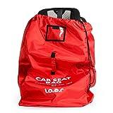 Kindersitz-Reisetasche, ideal für Flughafen-Gate-Check, strapazierfähig, geringes Gewicht, mit doppelt gepolsterten Schultergurten, in Rot oder Schwarz erhältlich