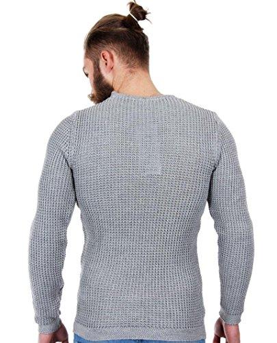 Redbridge by cipo baxx & 9865 philalux3 loupe pull en tricot gris - Gris