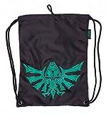 Zelda Gym Bag Zelda Hyrule Crest Rubber Printed Nue offiziell Nintendo