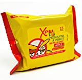 Xpel Enfants Moustique & Insecte Répulsif Lingettes - 25 Par Paquet
