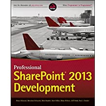 Professional SharePoint 2013 Development.