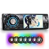 XOMAX XM-VRSU313 Autoradio / Moniceiver + Display schermo 4'' pollici / 10 cm con risoluzione HD, 800 x 480 pixel, formato 16:9 + Porta USB (fino a 128 GB!) + Slot per schede Micro SD (fino a 128 GB!) + Riproduzione multimediale: MP3, WMA, AVI, JPEG + Ingresso per telecamera retromarcia + singolo DIN 1 DIN + Telecomando, plancia e mascherina inclusi