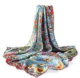 prettystern P636-90cm Stampa Art Nouveau Sciarpa di Seta Dipinto - Gustav Klimt - Giardino di Campagna Con Girasoli