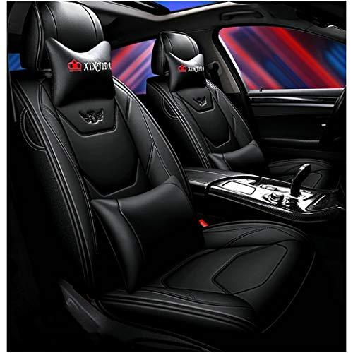 Coprisedile per auto, anteriore e posteriore Set completo per 5 sedili Coprisedile universale per auto, quattro stagioni Compatibile con airbag. (colore : NERO)