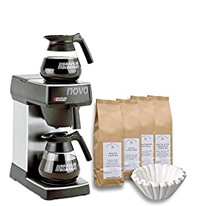 Bravilor Bonamat Novo Filter Coffee Machine, 1000pcs Filters and 4 x 500g Coffee
